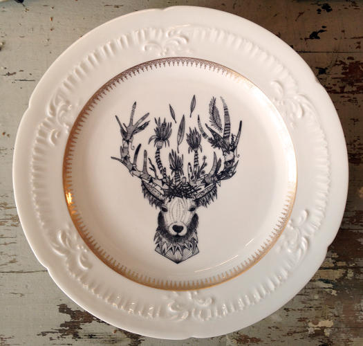 <p>Stag Plate from Harvey's Counter in Hudson Valley</p>