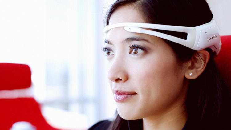<p>The Emotiv Insight headband is a brain-computer interface (BCI) which turns thoughts into computer commands.</p>