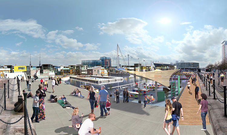 <p>The city is developing the area around some former dockyards in East London--including both land and water property.</p>