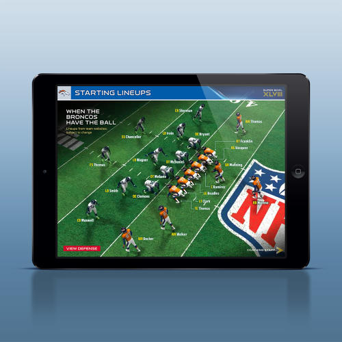 <p>Some of his best works? The Official Super Bowl XLVIII Interactive Game Program.</p>