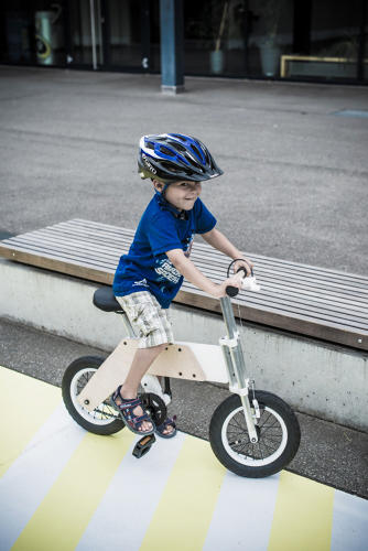 <p>But Bhend's design might be the first to turn a balance bike into a regular bike.</p>