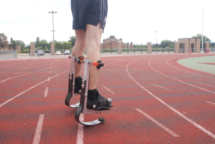<p>At last year's Industrial Designers Society of America conference, a Paralympian runner named Blake Leeper stood on his blades as he challenged the audience of industrial designers to advance the technology, which hasn't changed much in recent years.</p>