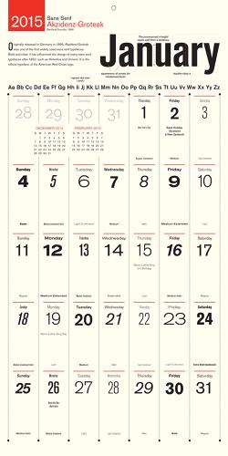 Calendar For Typography Nerds : Design nerd alert wall calendar honors a new typeface