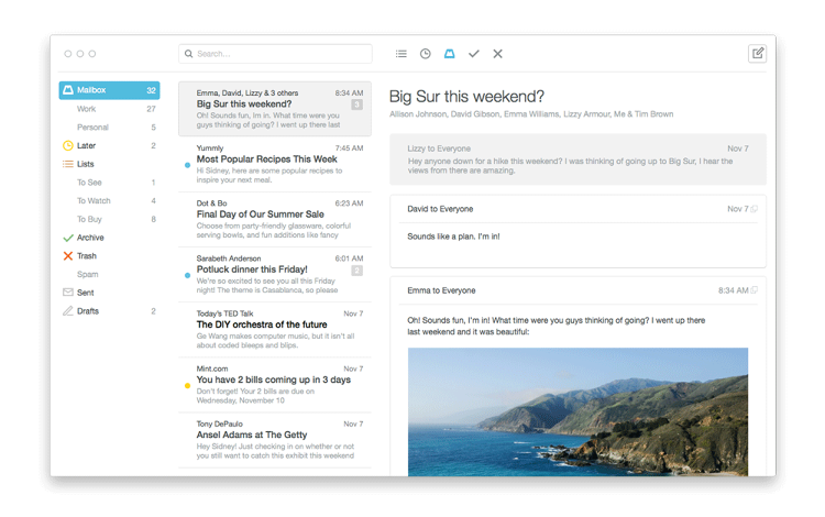 <p>The new Mailbox desktop app brings much of the feel of Maibox's mobile app to your PC or Mac.</p>