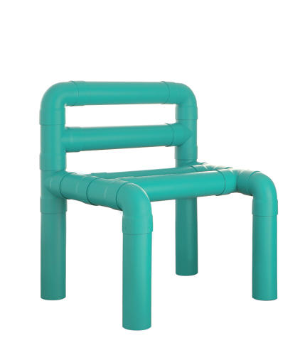 <p>Niccolo Spirito's Diablo Chair is made with PVC tubes. &quot;Using them solely for drainage seemed a waste of their potential,&quot; he says. Sprayed with unique colors, &quot;they look better than Lego.&quot;</p>