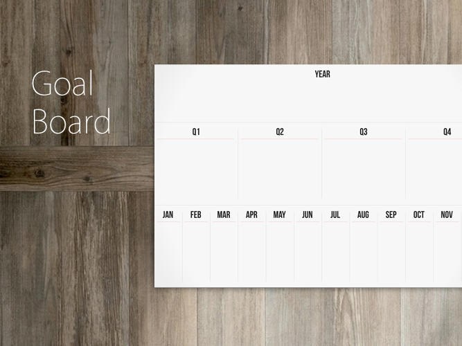 <p>The Goal Board is a calendar unlike any other.</p>