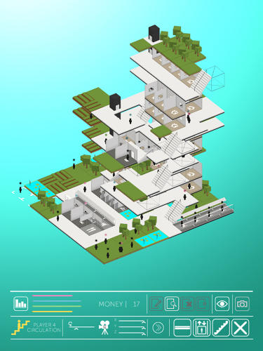 <p>In the game, called Block, players build neighborhoods from components like housing, businesses, and parks, continually rearranging the pieces to find the optimum arrangement.</p>