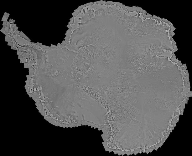 <p>The images here show the south end--Antarctica. Each one is a mosaic of 3,150 satellite pictures mashed together to form one grand view.</p>