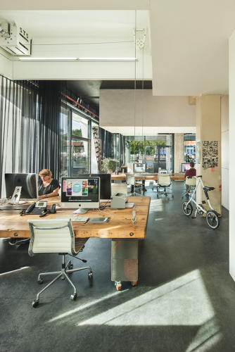 <p>During the day, this design studio looks like a typical workspace.</p>
