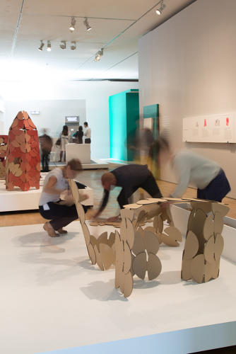 <p><a href=&quot;http://www.torstensherwood.com/&quot; target=&quot;_blank&quot;>Torsten Sherwood</a>, an architect and product designer, focused on reinventing children's play, redesigning traditional building blocks as cardboard discs that intuitively recombine in myriad ways.</p>