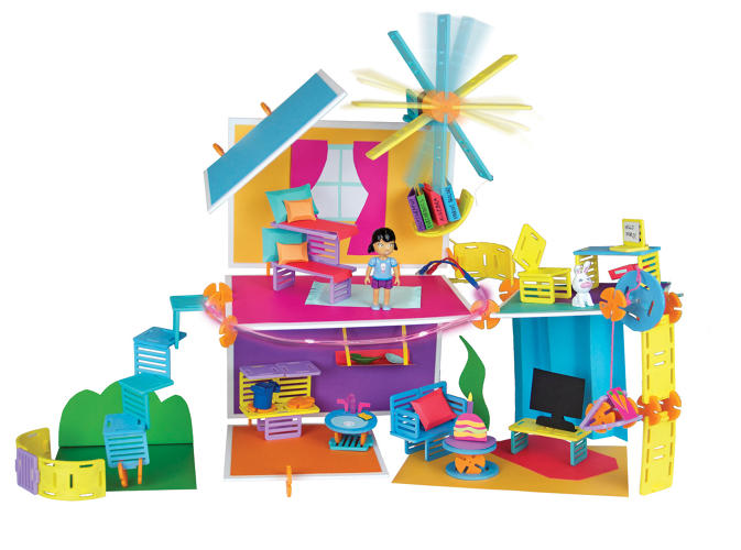 <p>After raising over $85,000 for Roominate on Kickstarter, the pair started selling Roominate dollhouses online.</p>