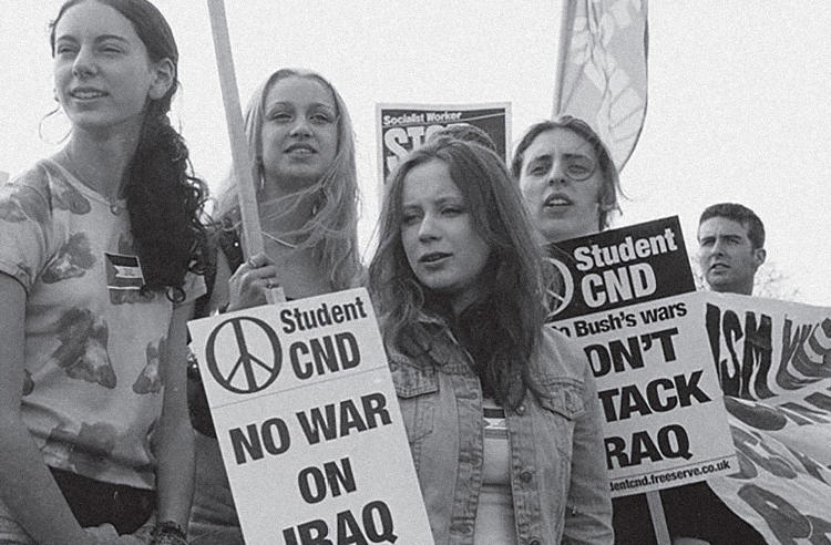 <p>The CND symbol has united many different protest groups and causes over the years from those attending the Don't Attack Iraq demonstration in 2002, led by CND and the Stop the War Coalition, to those who marched in New York during the Nuclear Non-Proliferation Treaty Review Conference in 2010.</p>