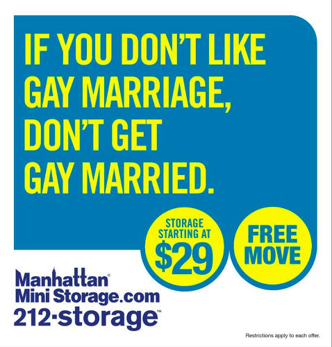 <p>In 2004, Archie Gottesman, chief branding officer of Manhattan Mini Storage, received an angry call from the Anti-Defamation League about her latest billboard.</p>