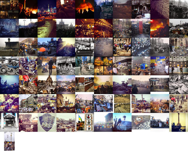 <p>The result is a fascinating juxtaposition of protest imagery--the images of fires, angry crowds, and protest signs--with your typical selfies and snapshots of pretty blue skies.</p>