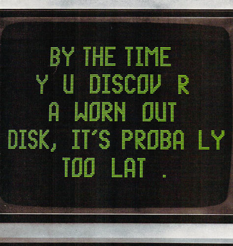 <p>Advertisement for TDK's No-Risk Disk℠ from 1984.</p>