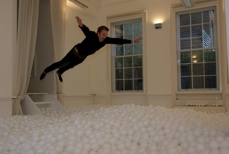 <p>The creative agency Pearlfisher temporarily filled its gallery space with 81,000 white balls. &quot;The idea was to create an interactive installation that promotes the power of play,&quot; explains Karen Welman, the firm's founding creative partner.</p>