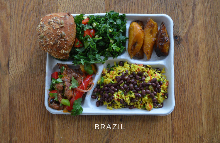 <p>School lunch in Brazil looks incredibly delicious, according a new photo series created by the salad chain SweetGreen.</p>