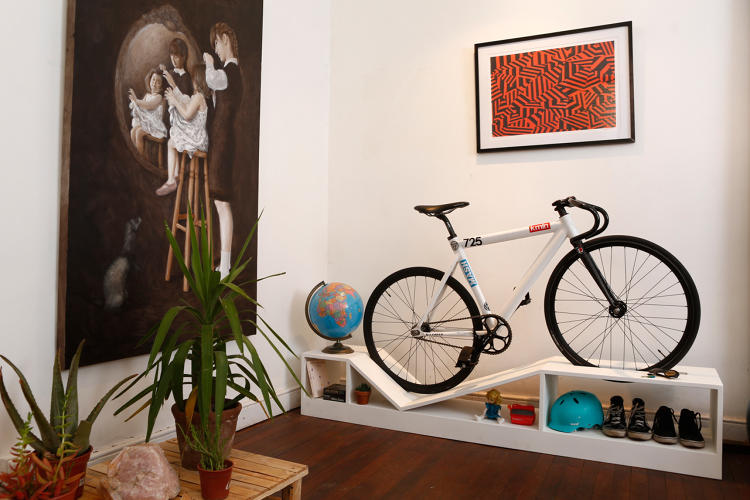 <p>While wall mounts are one answer, a Chilean designer has come up with a solution that's arguably better looking: A line of furniture that doubles as storage for bicycles.</p>