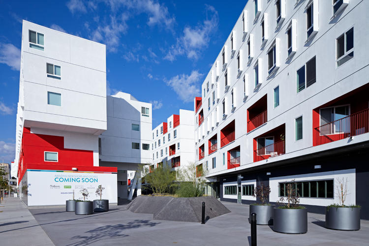 new apartment building by architect michael maltzan in los angeles