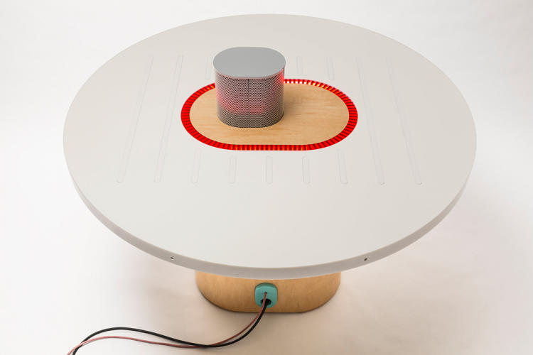 <p>For the Listening Table, the Lab found itself to drawn by the rise of pervasive electronic ears that can understand human speech, as seen in Apple's Siri, Microsoft's Cortana, and even dedicated products like the Amazon Echo.</p>