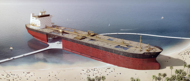<p>The supply of ships isn't hypothetical: Every year, as old tankers wear out, they're already being scrapped. Most end up in shipyards in places like India and Bangladesh, where workers are paid a few rupees a day to attack steel hulls with blowtorches.</p>