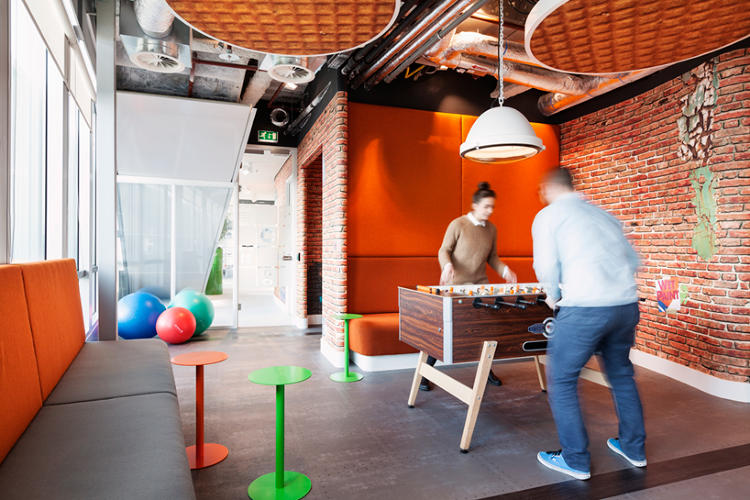 <p>A foosball table at <a href=&quot;http://www.fastcodesign.com/3028061/googles-new-amsterdam-offices-are-extremely-dutch#5&quot; target=&quot;_self&quot;>Google Amsterdam</a>: good for workers' productivity?</p>