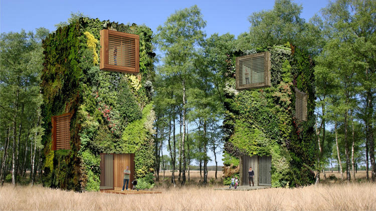 <p>De Hullu's new home design, the OAS1S, runs completely off the grid, thanks to renewable energy and on-site water and waste treatment.</p>
