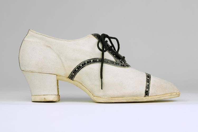 <p>Dominion Rubber Company's &quot;Fleet Foot,&quot; circa 1925, capitalized on American society's' cautious acceptance of female athletes during the 1920's.</p>  <p>Collection of the Bata Shoe Museum</p>