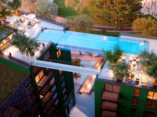 Floating Above London This Invisible Pool Lets You Swim Laps In The Sky Co Design Business
