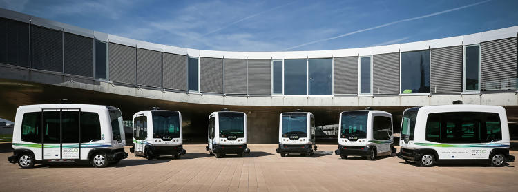 <p>The EZ10 is a driverless bus designed for short hops.</p>