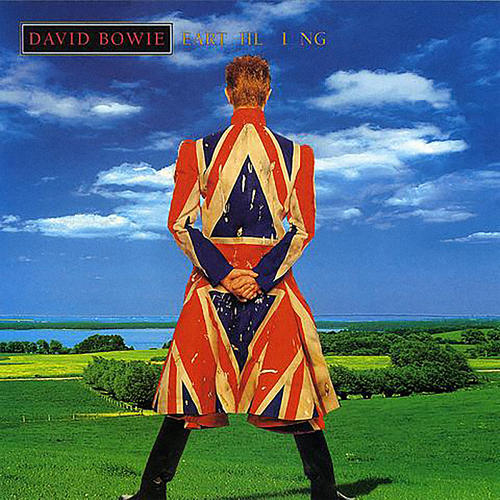 <p>Designed by famed British designer Alexander McQueen, Bowie wore this leather Union Jack coat on the cover of his 1997 album, <em>Eart HL I NG.</em></p>