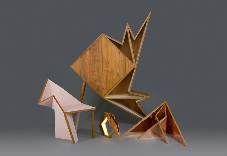 <p>Aljoud Lootah's Oru series, which takes its name from the Japanese verb &quot;to fold,&quot; is inspired by common Origami forms.</p>