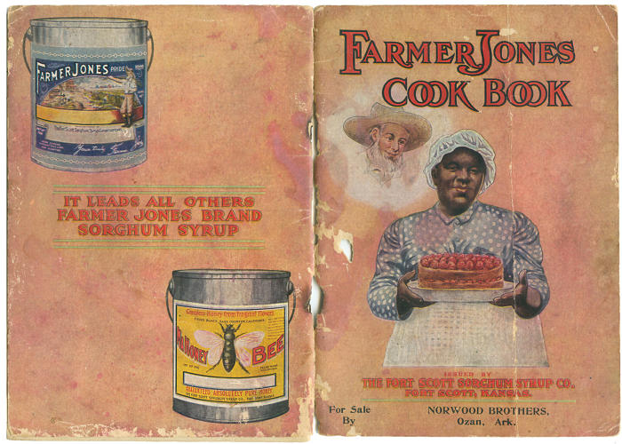 <p><em>The Farmer Jones Cook Book</em><br /> Issued by Fort Scott Sorghum Syrup Company<br /> Kansas, 1914<br /> 26 pages</p>