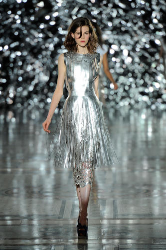 <p><em>Metallic Leather Fringe Dress</em> (2012), designed by Giles Deacon</p>