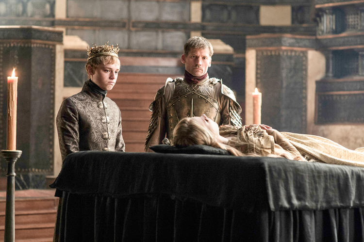 <p>Jamie Lannister shows his son/nephew the aforementioned deceased daughter/niece. (It's complicated).</p>
