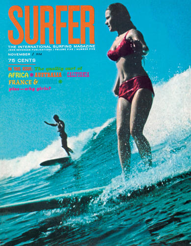 <p>Magazine cover, SURFER, 1964</p>