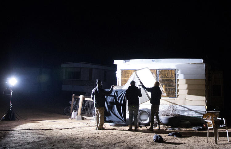 <p>Shooting in Slab City, California</p>