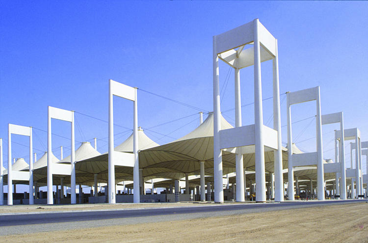 <p>The Hajj Terminal at Saudi Arabia's King Abdulaziz International Airport, designed in the 1970s with help from Walter Bird</p>