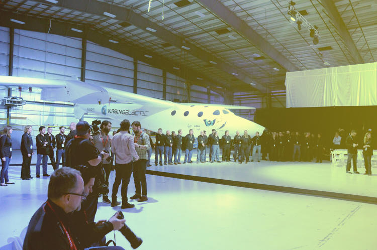 <p>Dozens of Virgin Galactic employees welcomed visitors to the event besides WhiteKnightTwo, the mothership that carries SpaceShipTwo into the skies.</p>