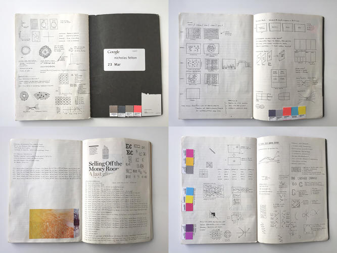 <p>The notebooks of data viz guru Nicholas Felton</p>