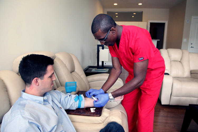 <p>Instead of having to pay people full-time, hospitals and labs can now pay phlebotomists per blood draw, much how Uber pays its drivers.</p>