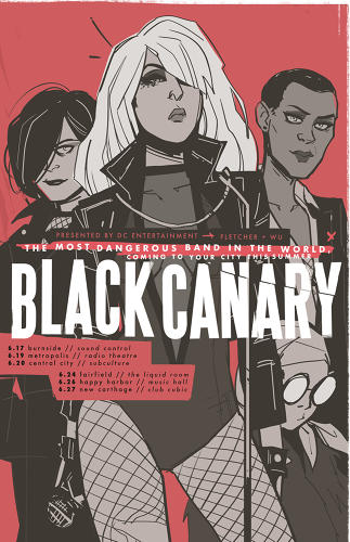 <p>Black Canary tour poster by Annie Wu</p>