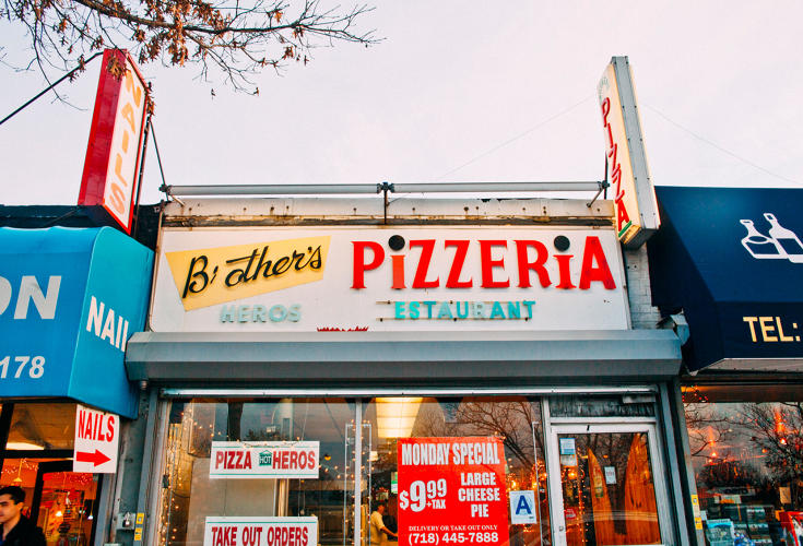 <p>Brothers Pizzeria in Fresh Meadows, Queens</p>