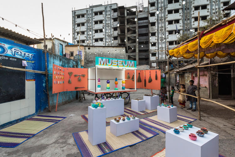 <p>For two months, a tiny museum on wheels is rolling through the narrow, unnamed streets of Dharavi, a Mumbai slum home to a million people.</p>