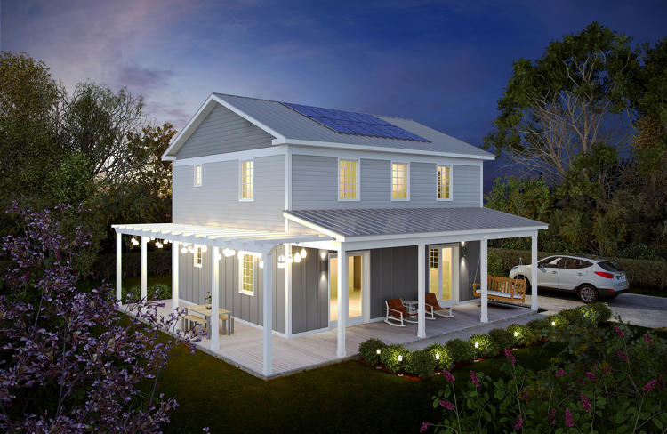 <p>The rest is powered by rooftop solar.</p>