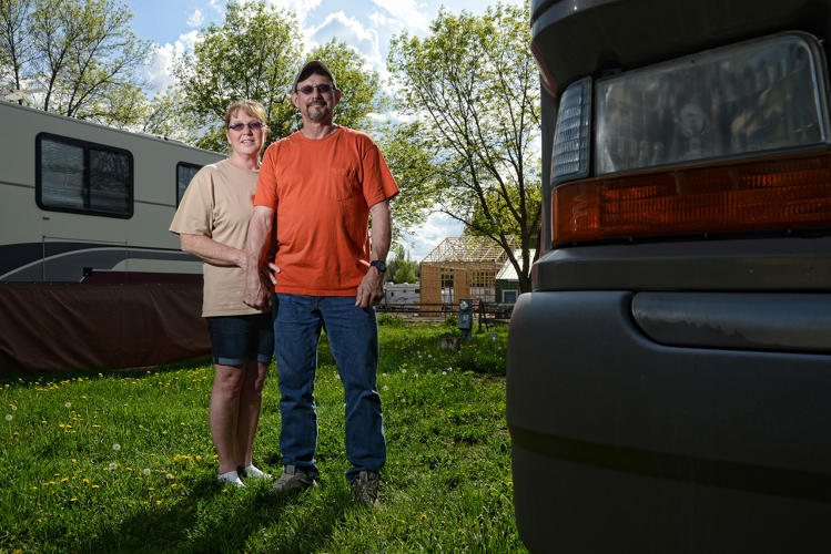 <p>Larry, Type 2 camp in Watford City, ND. Now that Larry's kids are grown, he says, it works for him to travel and make good money in a short time.</p>