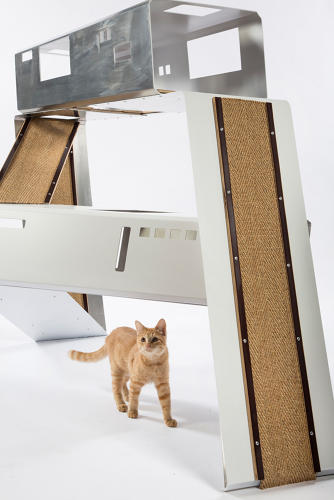 <p>WORD's cat shelter is &quot;a place for them to enjoy the things they love best—eating, sleeping, climbing,&quot; the firm says.</p>
