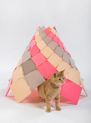<p>DSH Architecture's Spiral Kitty cone is made entirely of 3D-printed components and using no framework or adhesives. It also glows in the dark.</p>