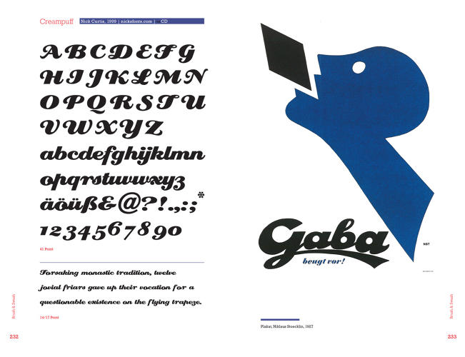 <p>Creampuff, the font used on the poster, is an example of a modernized swash font.</p>