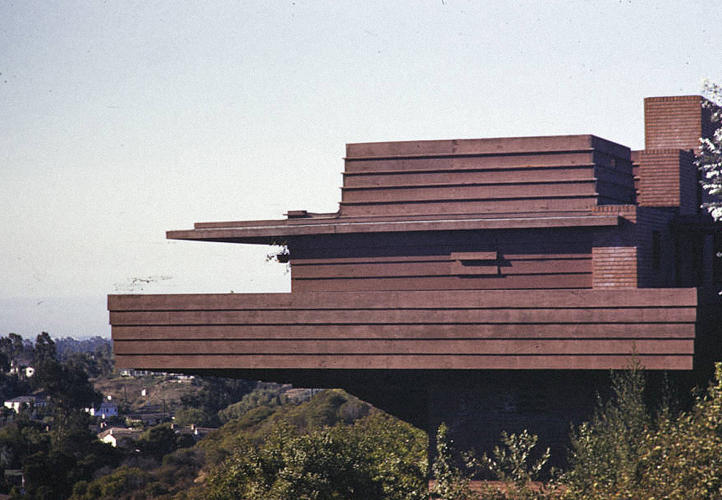 <p>Sturges Residence, Brentwood, Los Angeles, 1928. Architect: Frank Lloyd Wright</p>